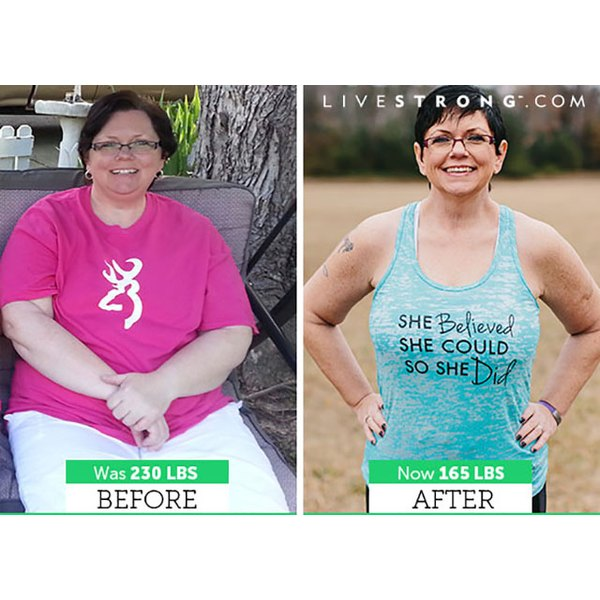 Kim went from 230 lbs to 165 lbs -- read her story below!