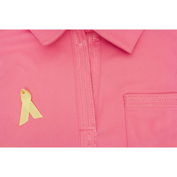 Cancer awareness ribbons are small but effective.