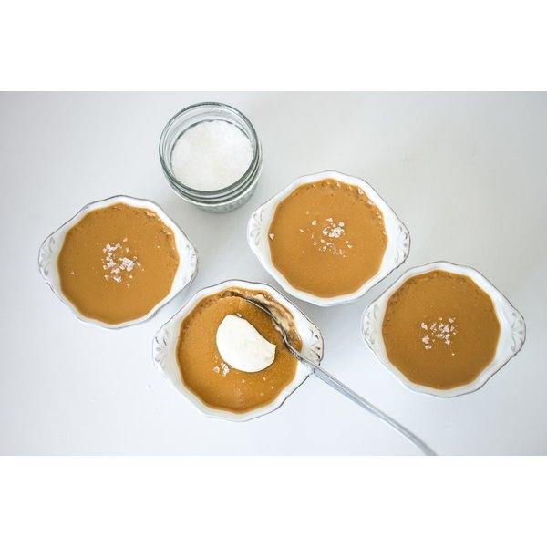 Enjoy the rich taste of carmelized sugar in butterscotch pots de creme.