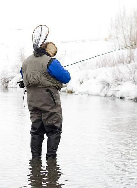 Fisherman in the winter