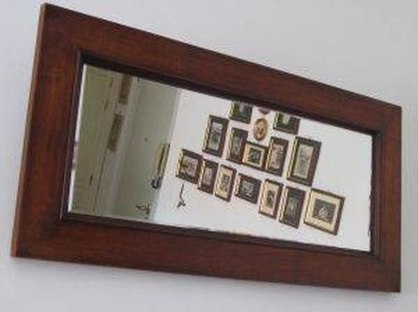 how to hang a large mirror homesteady. Black Bedroom Furniture Sets. Home Design Ideas