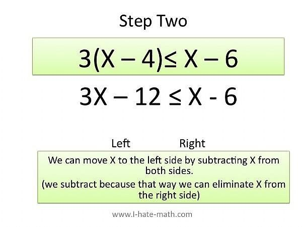 Move the variables to the left side