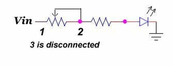 Variable resistor in a series circuit