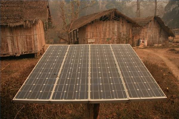 Solar Powar Use in Thailand Tribal village