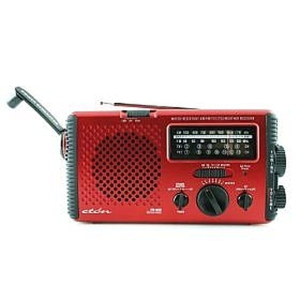 Hand operated generator radio