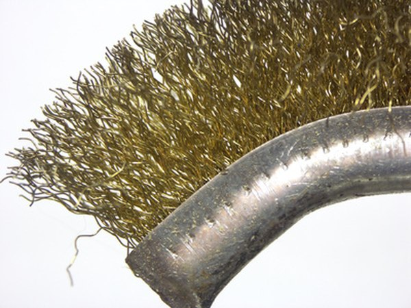 Use a wire brush to prepare corroded surfaces.