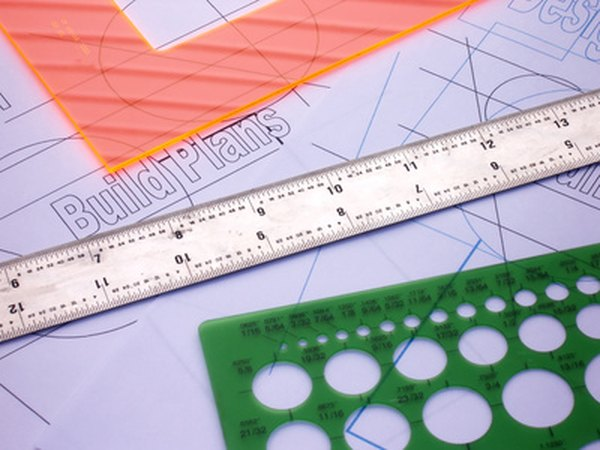 Use drafting tools to lay out the hole spacing and size.