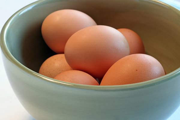 Display the eggs in a bowl of crushed ice to keep them fresh.