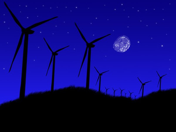Deserts are ideal sites for wind farms.