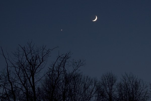 Venus sometimes appears near the moon.