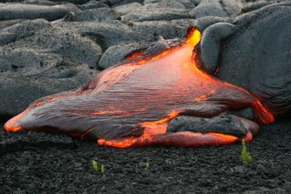 Viscous lava.