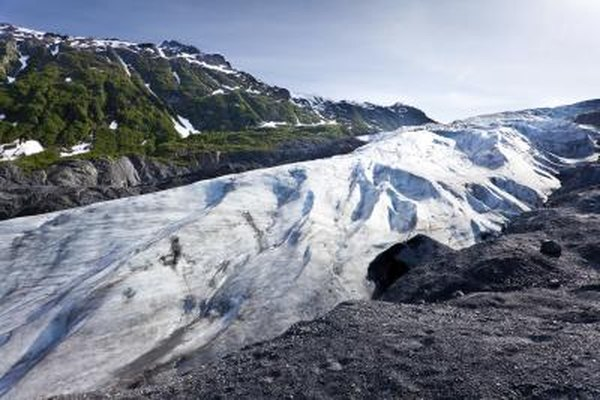 Melting glacier