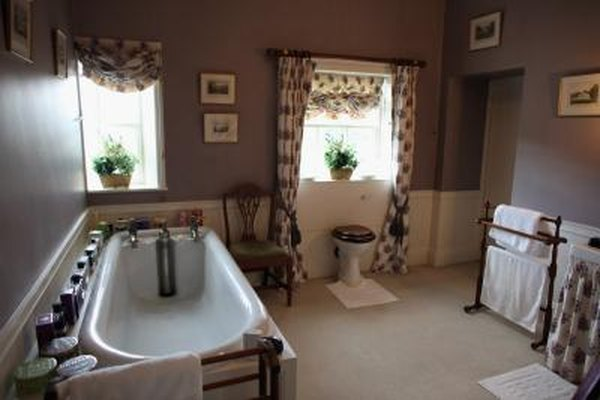 Inside view of a elegant bathroom in England