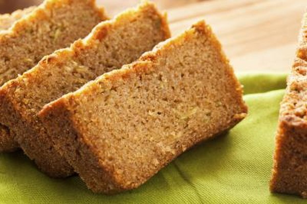 Moist dessert -like zucchini bread molds quickly.