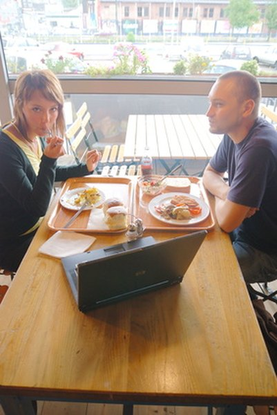 Discussing business over lunch can be both productive and enjoyable.