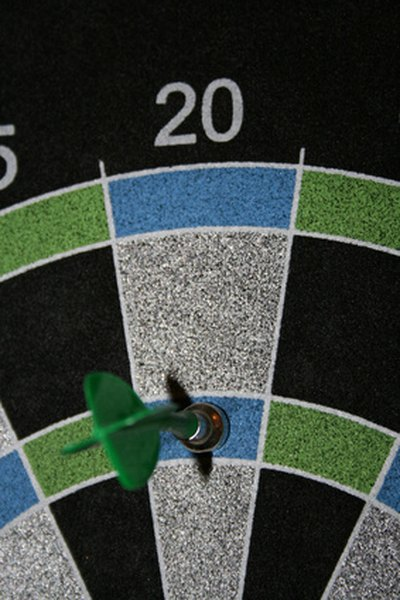 Magnetic dart board.