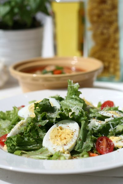Make a standard salad a lot more satisfying by adding eggs.