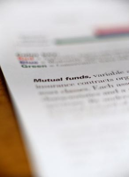Mutual funds that lose too much value may be dissolved or split into other funds.