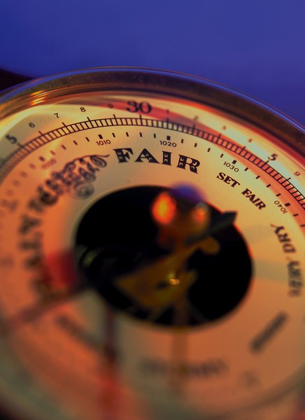 Barometric pressure variations and trends are used to predict the weather.