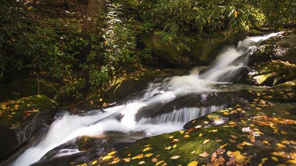 waterfall in mountains of North Carolina