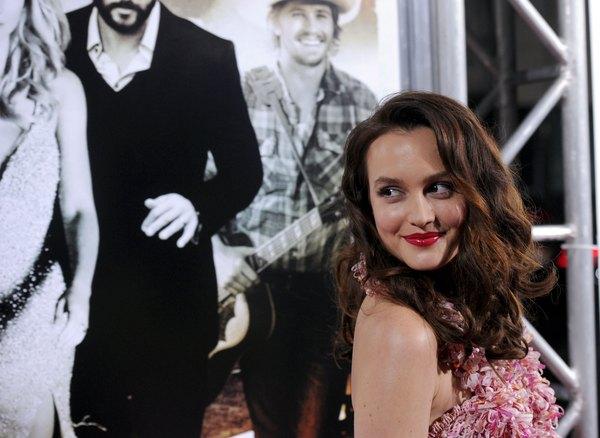 """Leighton Meester na apresentação do filme """"Onde o Amor Está"""""""