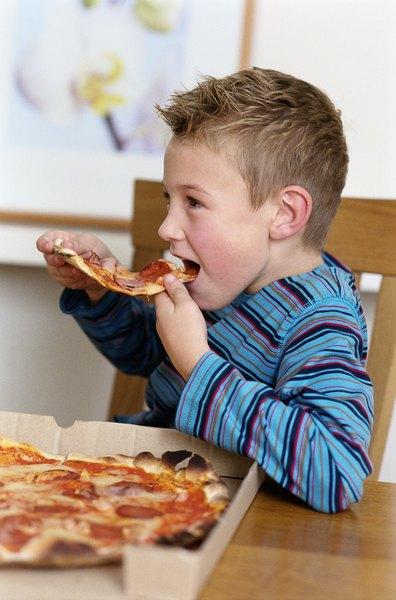 Los niños adoran la pizza.