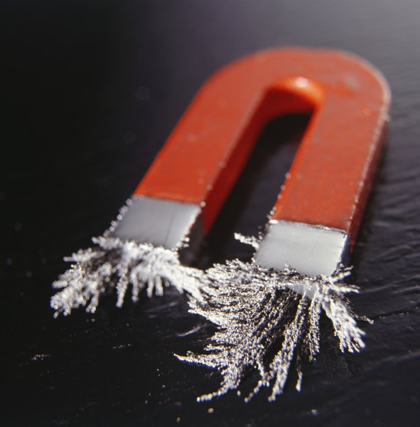 Magnetic fields attract metal such as iron and steel.