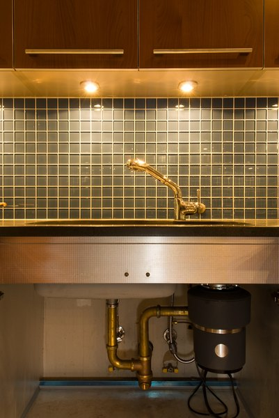 Under Cabinet Lighting Works Well For A Sink With Cabinets Above It