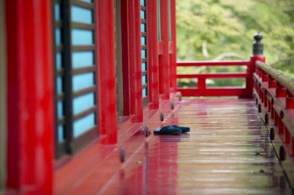 En los hogares japoneses se ingresa sin zapatos.