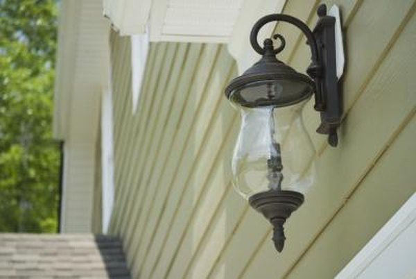 How to Install an Exterior Light Fixture on Siding | Home Guides ...