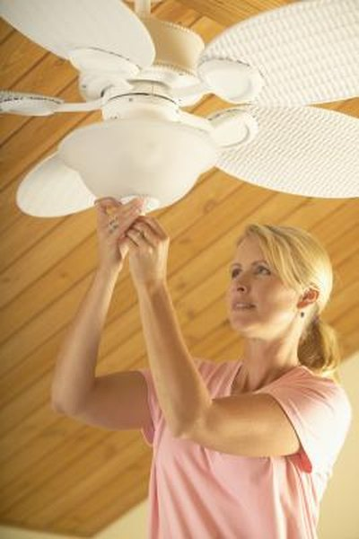 How to Install a Ceiling Fan With Black, White, Red & Green Wires ...