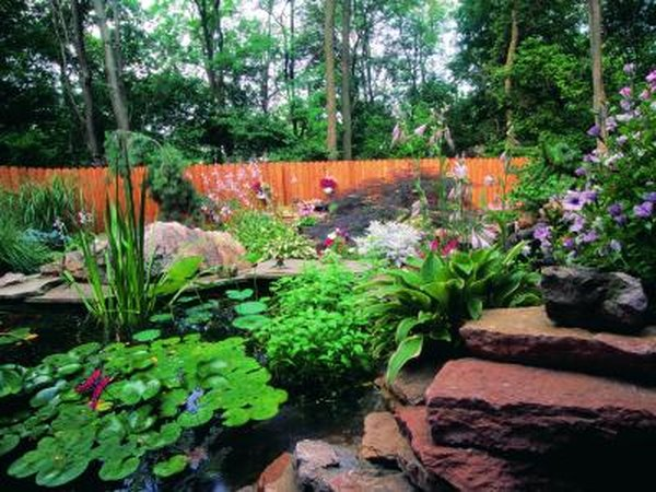 How to Install a Flexible Pond Liner | Home Guides | SF Gate Small Backyard Pond Landscaping Ideas On A Budget Html on small backyard designs, slope landscaping on a budget, landscaping on a tight budget, small backyard patio landscaping ideas, small backyard garden, backyard decorating ideas on a budget,