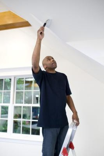 Removing A Light Water Stain From Drywall On The Ceiling