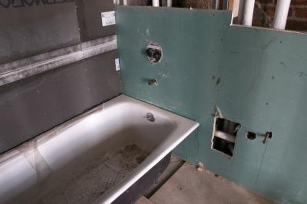 How To Replace The Sheetrock Around Shower Bathtub Home Guides Sf Gate