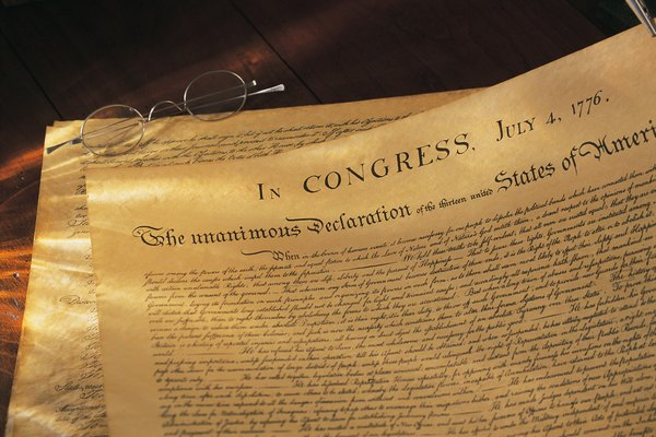 In Which Section of the Declaration of Independence Does ...