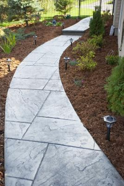 Do it Yourself Landscaping Designs for Slate Walkways   Home Guides Ideas For Backyard Walkway Html on tree ideas for backyard, lawn ideas for backyard, pond ideas for backyard, fence ideas for backyard, gazebo ideas for backyard, swimming pool ideas for backyard, home ideas for backyard, waterfall ideas for backyard, gate ideas for backyard, water feature ideas for backyard, corner ideas for backyard, fireplace ideas for backyard, greenhouse ideas for backyard, pathway ideas for backyard, deck ideas for backyard,