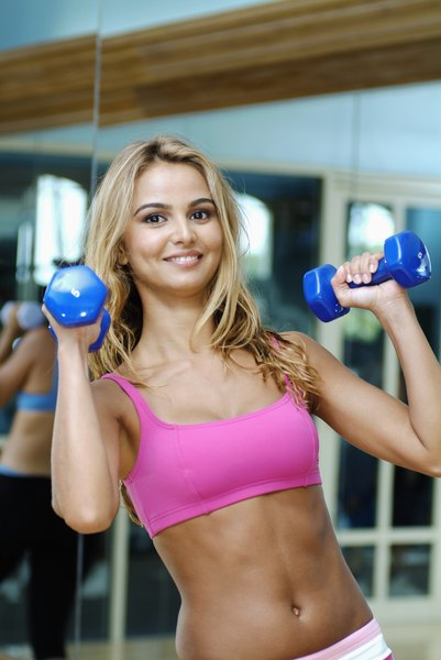 Numerous 10-pound dumbbell workouts can be performed at home.