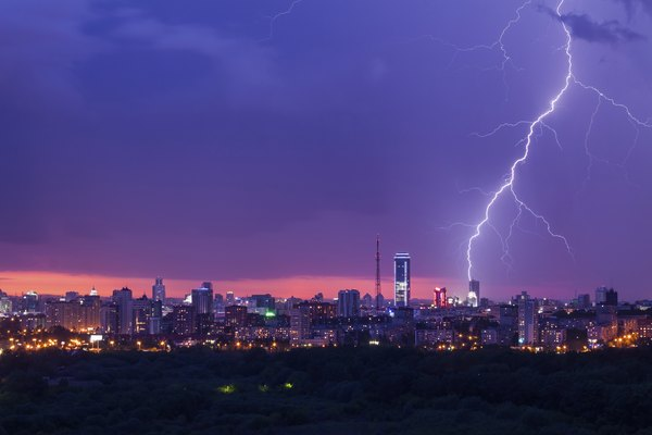 Lightning passes nitrogen gas through the atmosphere.