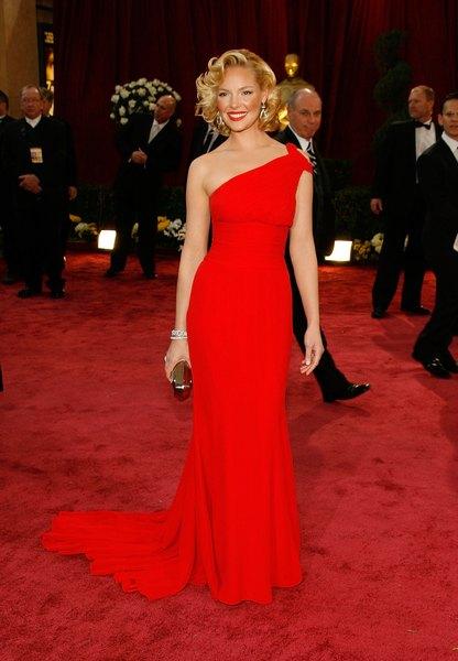 Katherine Heigl no tapete vermelho da Academy Awards de 2008