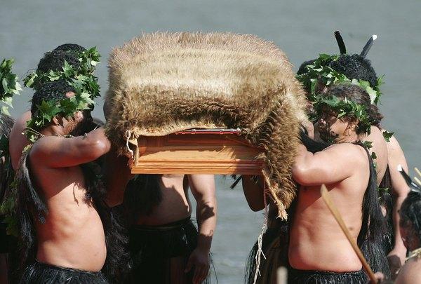 Los funerales maoríes.