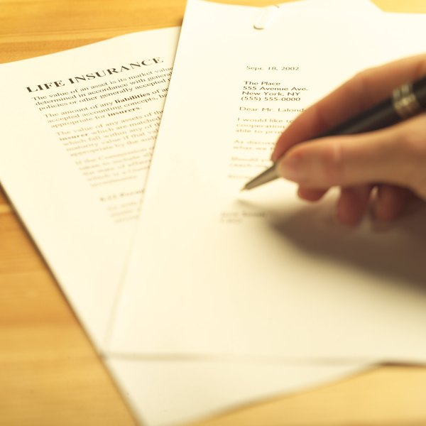 writing an insurance letter can help you receive benefits