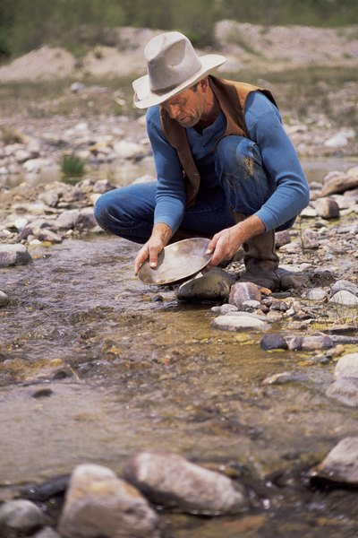 Panning is one of the easiest methods of placer mining.