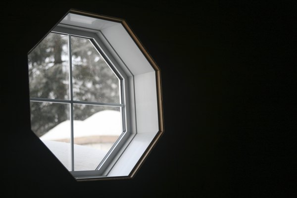 Octagonal windows are attractive and unique.