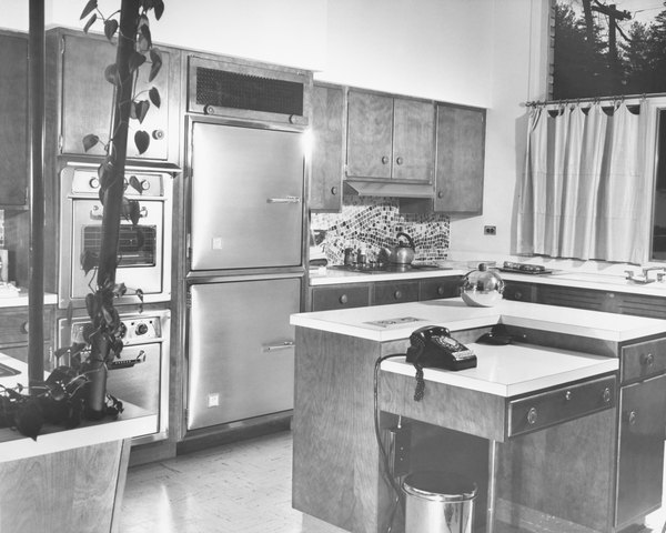 Kitchen Furniture In The 1950s Style Was Sleek And Modern