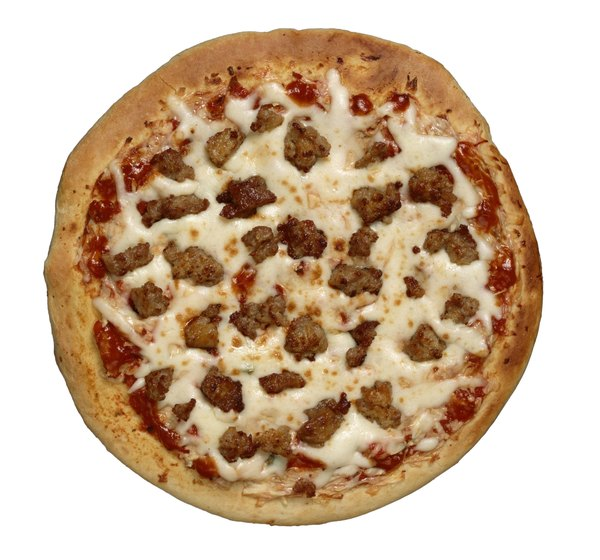Meat pizza has more fat than cheese pizza.