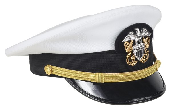 navy officers wear these caps while enlisted seamen wear different headgear