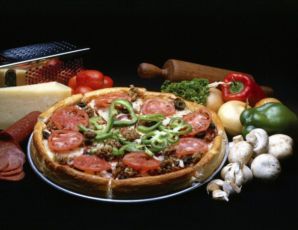 Pizza vegetariana.