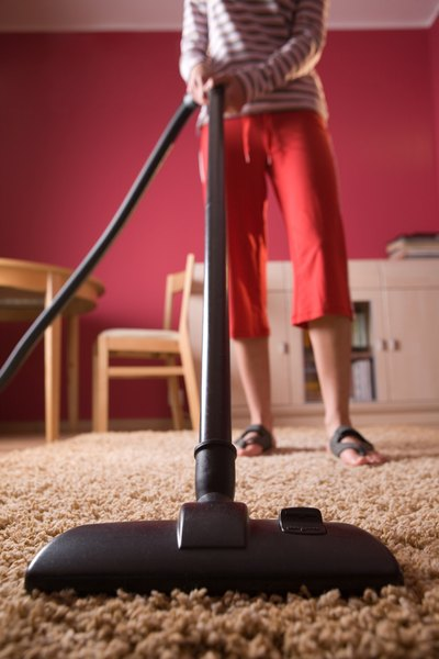 Your dog may perceive the vacuum to be a threat to you both.