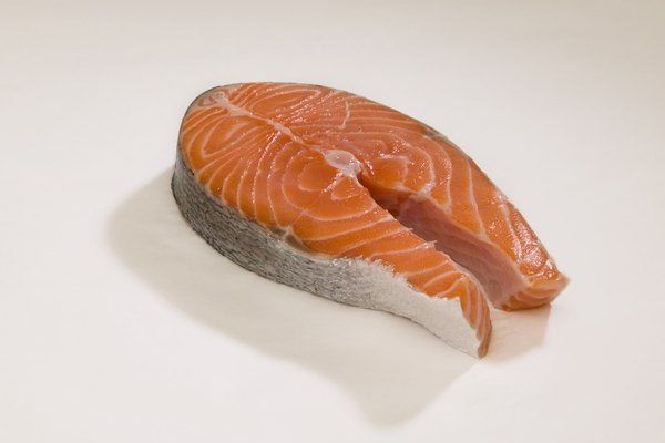 Salmon is a source of phosphorus.
