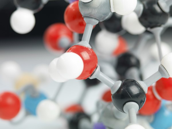 A close-up of a molecular model.